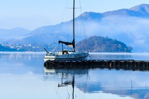Boat in lake Kawaguchiko