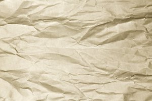 Abstract wrinkled brown paper