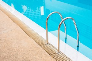 Stair to swimming pool