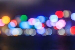 Abstract bokeh city light