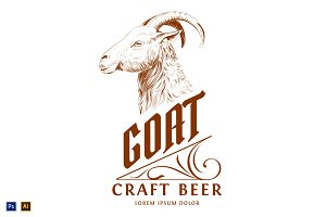 Vintage Logo with Goat Head