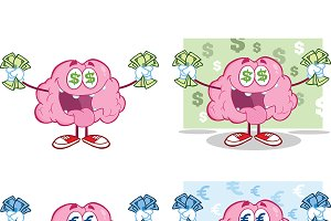 Brain Cartoon Mascot Collection - 16