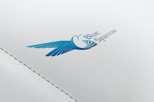 Blue Sparrow Logo Template