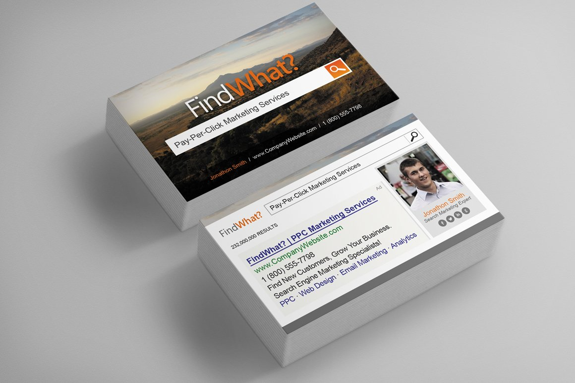 Pay-Per-Click Business Card ~ Business Card Templates ~ Creative ...