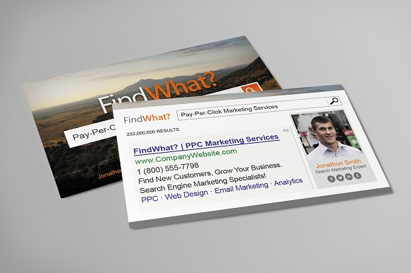 Pay Per Click Business Card Business Card Templates Creative Market