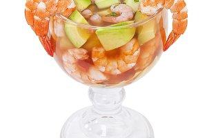 Cocktail of shrimps