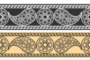 Paisley horizontal patterns