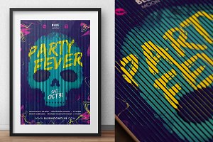 Skull Party Poster