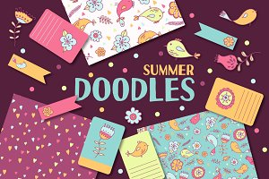Summer doodles | patterns & cards
