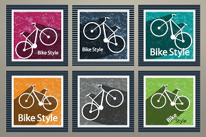 Set vector images bike
