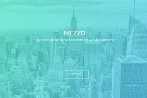 Mezzo | Parallax Muse template