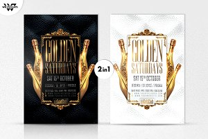 2in1 GOLD CLASSY VIP Flyer Template