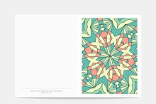 Postcard Retro. Mandala cover