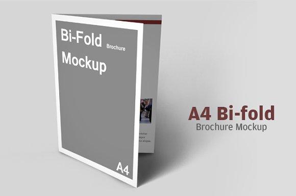 Download A4 Bifold Brochure Mockup