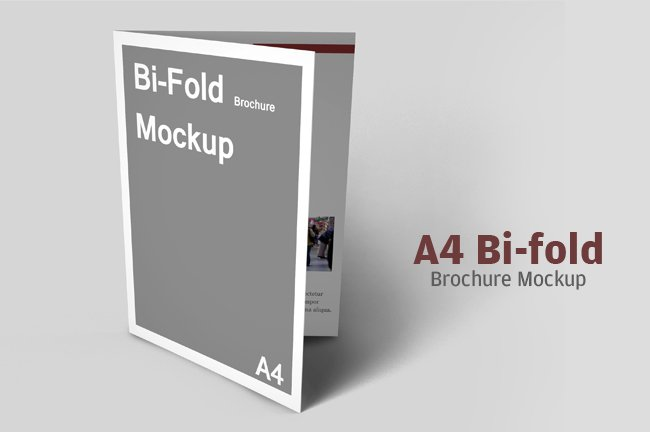 a4 bifold brochure mockup product mockups creative market