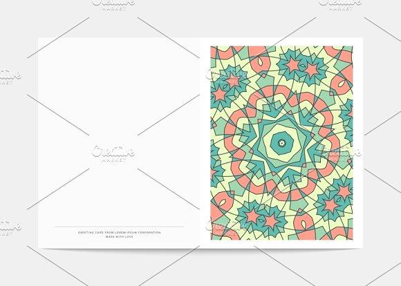 Postcard Retro. Mandala cover