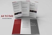 A4 Tri-fold Brochure Mockup