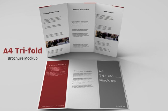 a4 tri fold brochure mockup product mockups creative market