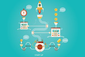 Illustration of start up