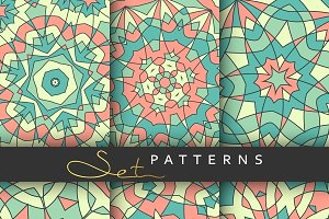 Set 6 bright patternes