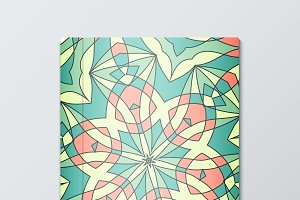 Cover for books. Bright pattern