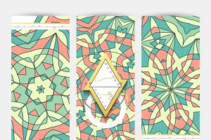 Set of 3 banner . Mandala