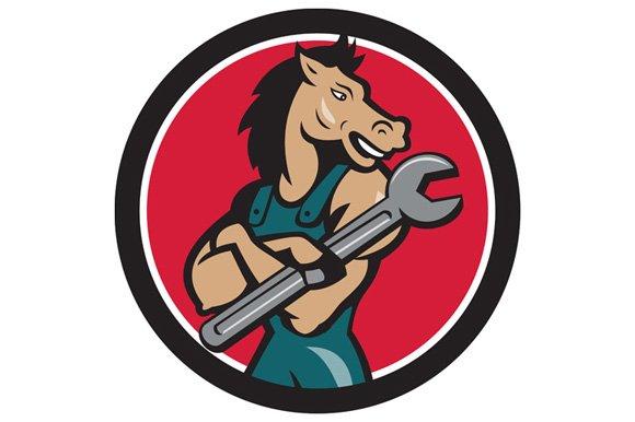 Horse Mechanic Spanner Circle