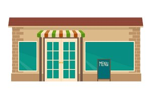 Cafe. Flat vector illustration.