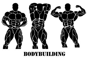 Bodybuilding, power lifting concept