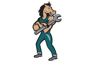 Horse Mechanic Spanner Standing