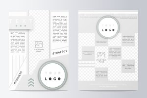 Business brochure. Flyer design