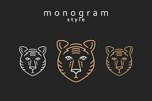 Set of design elements. Totem bears