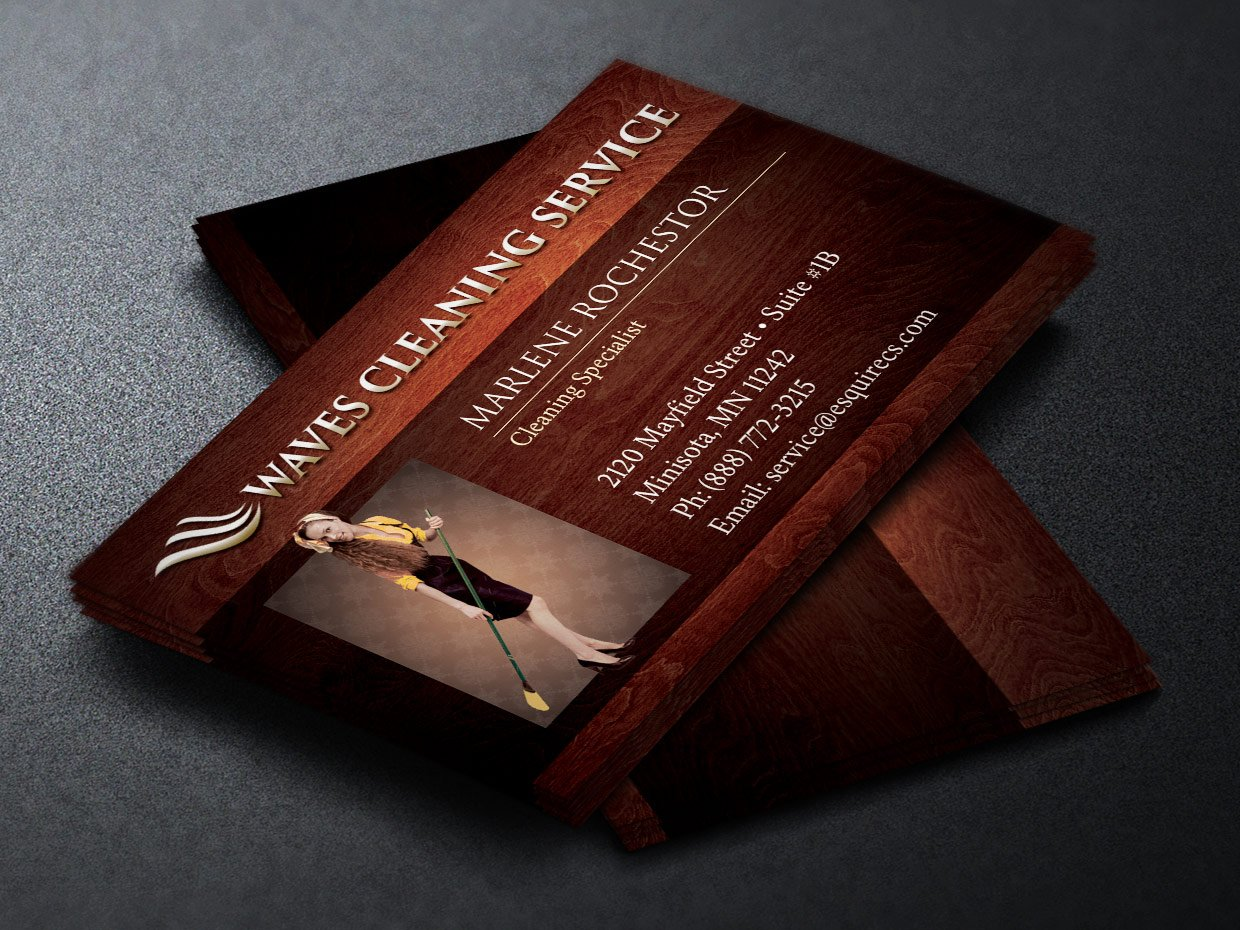Elegant Cleaning Business Card ~ Business Card Templates ...