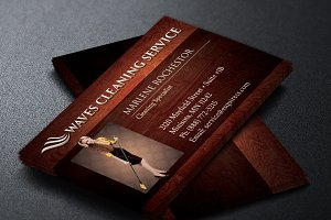 Elegant Cleaning Business Card