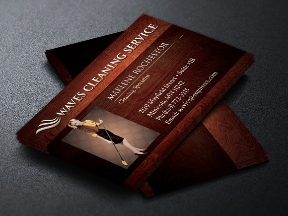 elegant cleaning business card business card templates creative