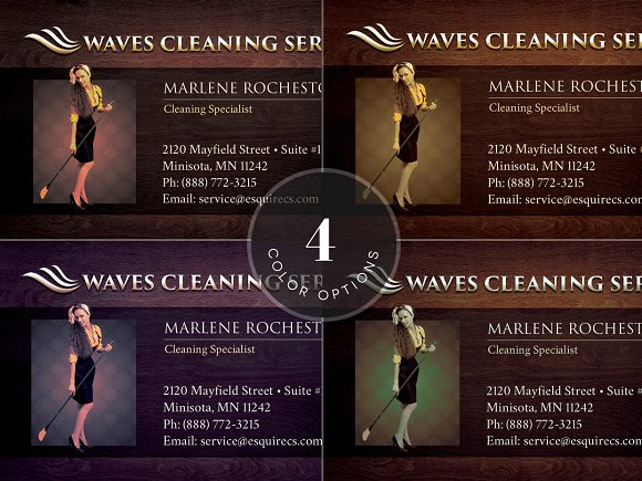 Elegant cleaning business card business card templates elegant cleaning business card business card templates creative market reheart Gallery