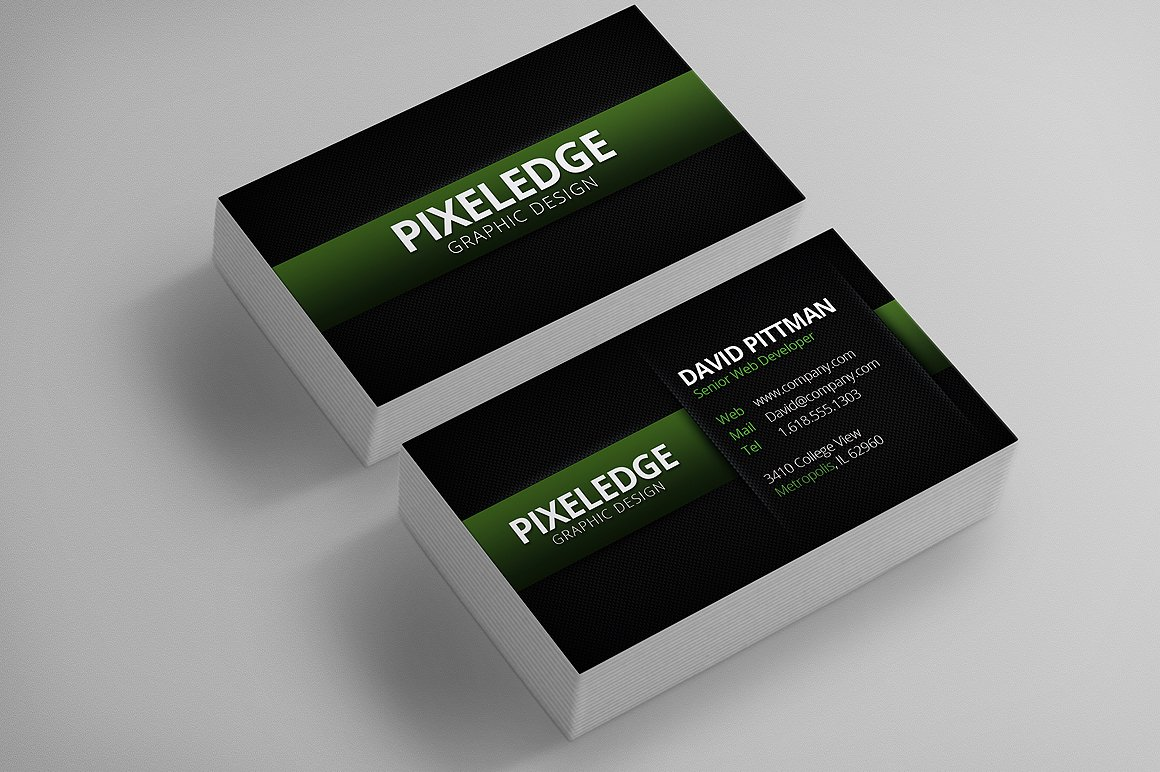 Carbon Fiber Business Cards ~ Business Card Templates ~ Creative Market