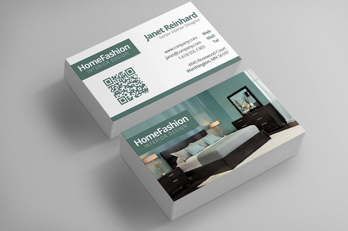 Interior Design Business Cards ~ Business Card Templates ...