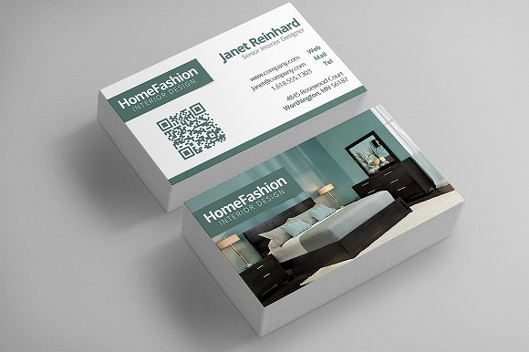 Interior design business cards business card templates creative market for Interior designers business cards