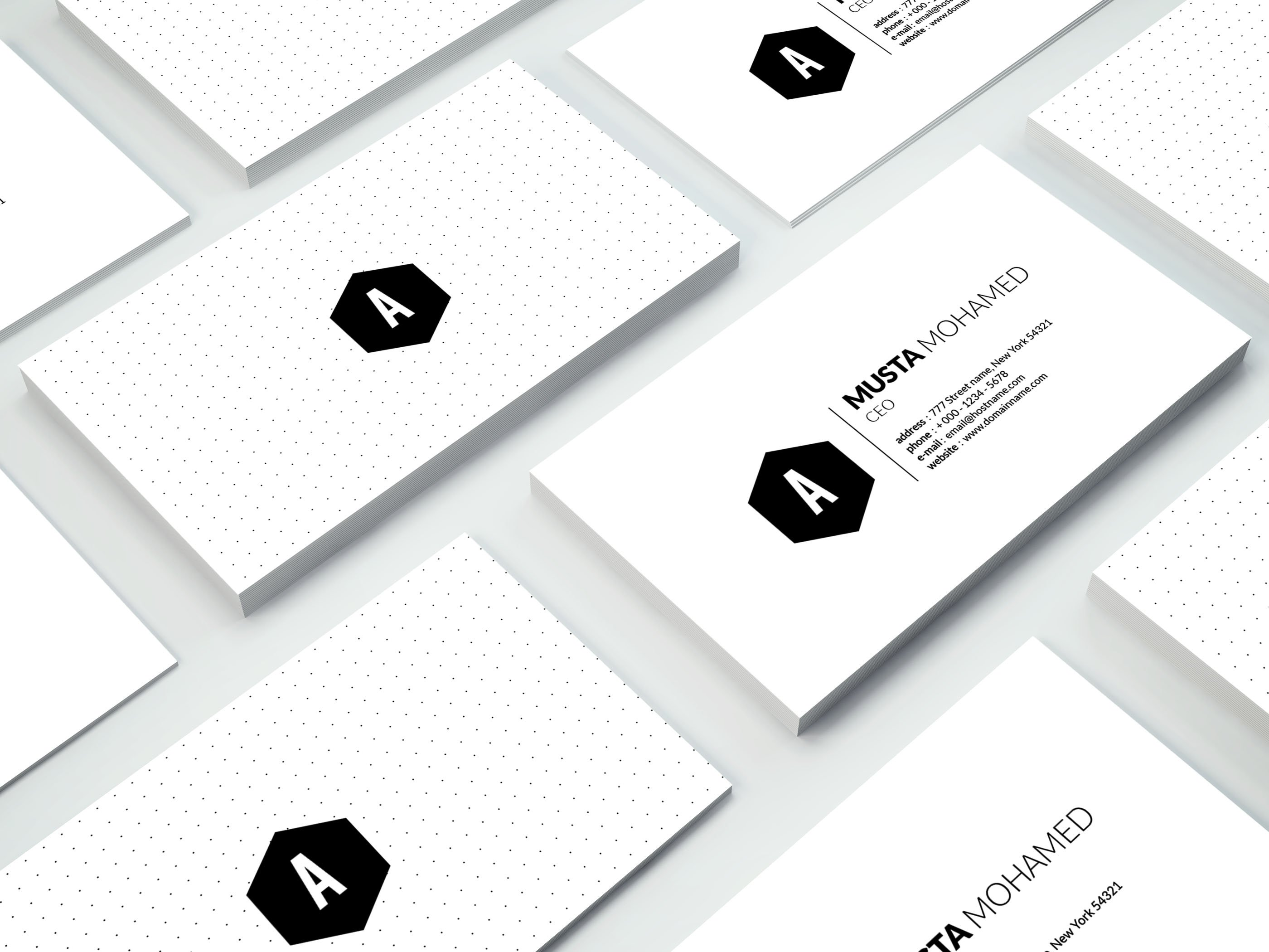 Clean Minimal Business Card - 01 ~ Business Card Templates ...