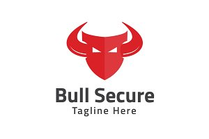 Bull Secure Logo Template