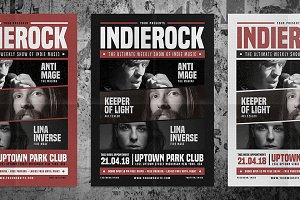 Indie Rock Flyer Vol 03