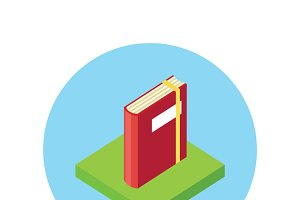 Isometric Book Logo