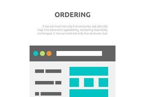 Ordering Website Element Design