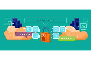 Data Protection Design Flat Concept