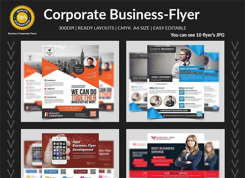 150 Corporate Business Flyers Bundle Flyer Templates Creative