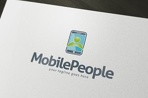 Mobile People Logo Template