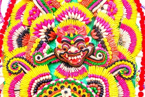Balinese offering as Barong face