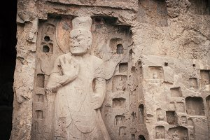 Buddha statue rock carving in china