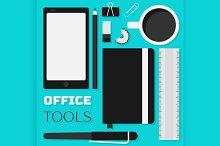 Flat design office tools
